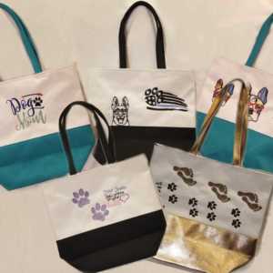 Custom Embroidered Canvas Tote Bags